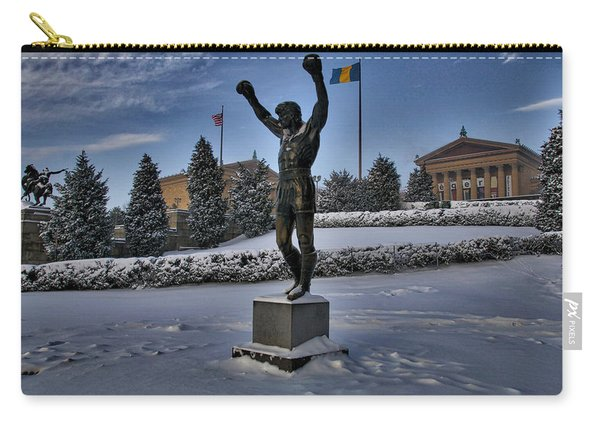 Rocky In The Snow Carry-all Pouch