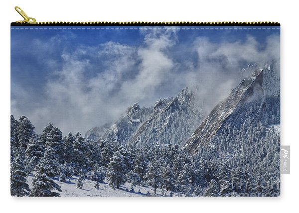Rocky Mountain Dusting Of Snow Boulder Colorado Carry-all Pouch