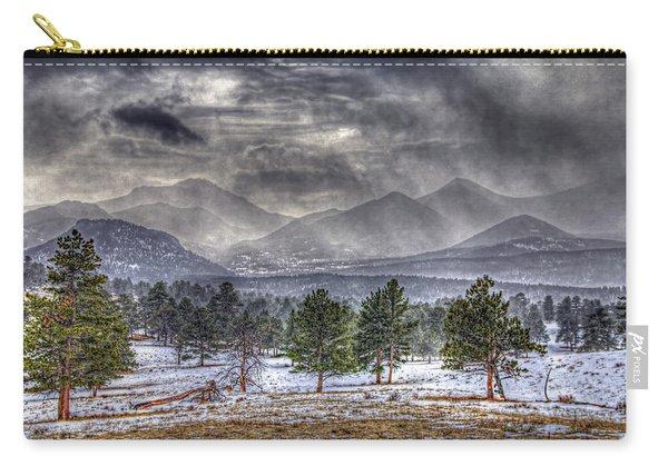 Rocky Mountain Snow Storm Estes Park Colorado Carry-all Pouch