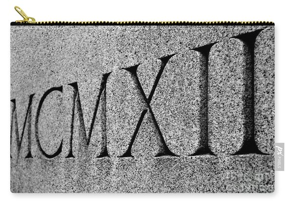 Roman Numerals Carved In Stone Carry-all Pouch