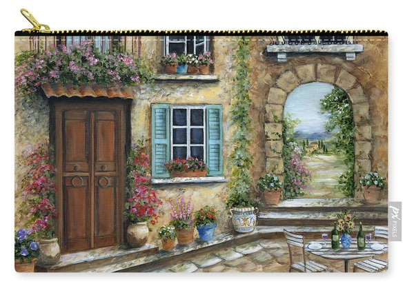 Romantic Tuscan Courtyard Carry-all Pouch