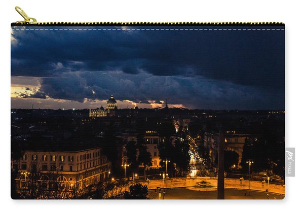 Rome Cityscape At Night  Carry-all Pouch