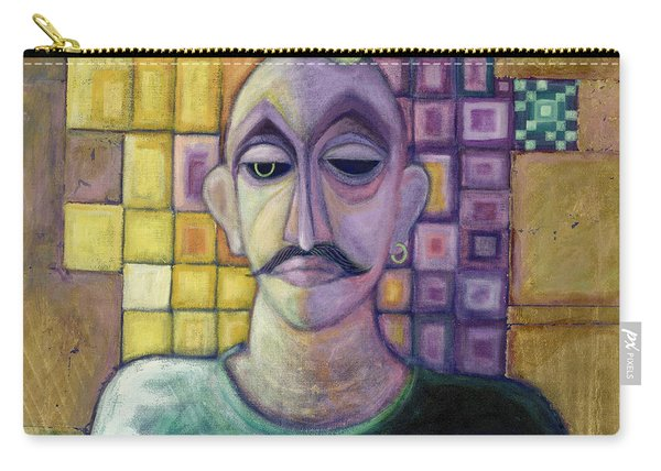 Romeo, 1970 Acrylic & Metal Leaf On Canvas Carry-all Pouch