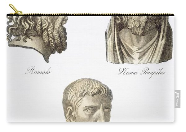 Romulus, Numa Pompilius And Augustus Carry-all Pouch