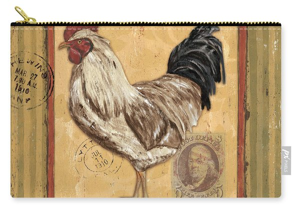 Rooster And Stripes Carry-all Pouch