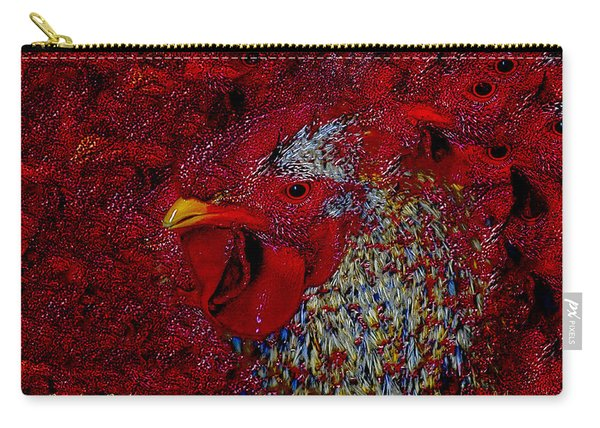 Rooster Red Carry-all Pouch