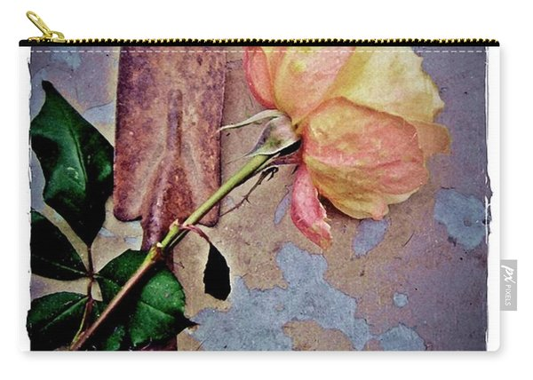 Rose And Rust Carry-all Pouch