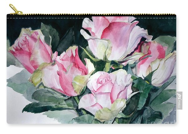 Watercolor Of A Pink Rose Bouquet Celebrating Ezio Pinza Carry-all Pouch