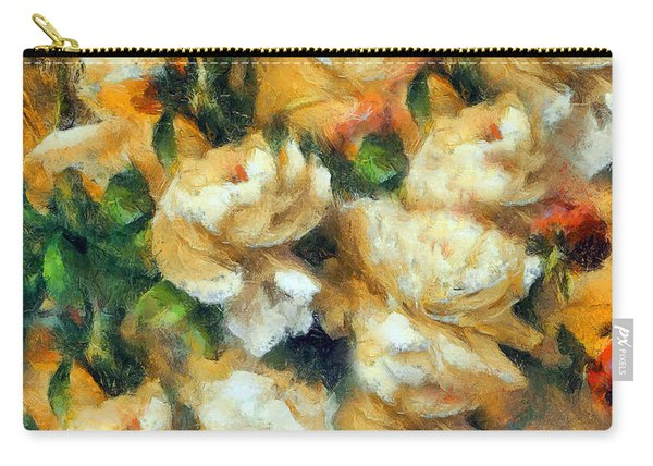 Rose Garden Abstract Expressionism Carry-all Pouch