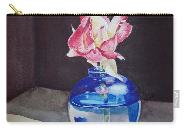 Rose In The Blue Vase II Carry-all Pouch