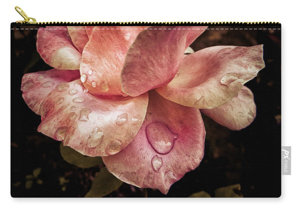 Rose Petals With Raindrops Carry-all Pouch