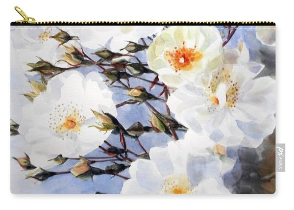 Wartercolor Of White Roses On A Branch I Call Rose Tchaikovsky Carry-all Pouch