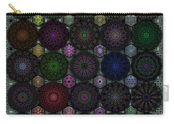 Rose Window Kaleidoscope Quilt Carry-all Pouch