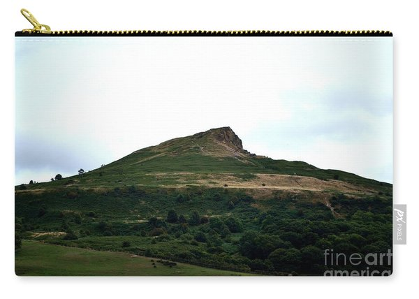 Carry-all Pouch featuring the photograph Roseberry Topping Hill by Scott Lyons