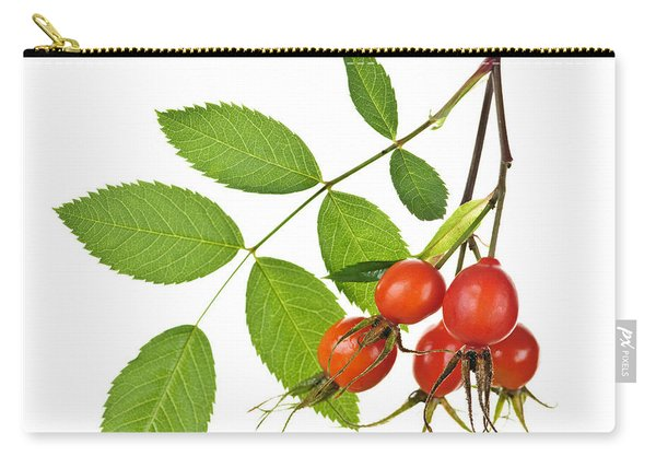 Rosehips On White Carry-all Pouch
