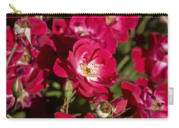 Roses Coming And Going Carry-all Pouch