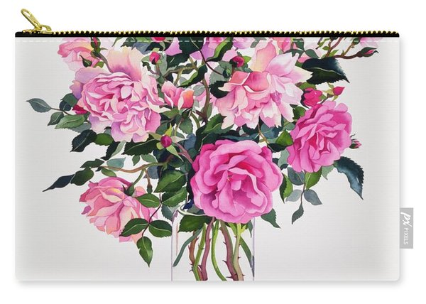 Roses In A Glass Jar  Carry-all Pouch