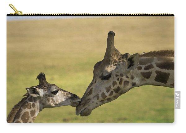 Rothschild Giraffe Male Calf Nuzzling Carry-all Pouch