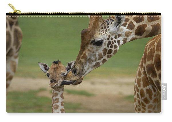 Rothschild Giraffe Mother Kissing Calf Carry-all Pouch