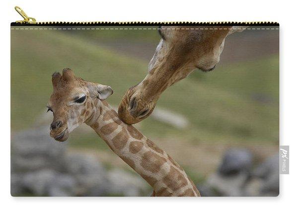 Rothschild Giraffe Mother Nuzzling Calf Carry-all Pouch