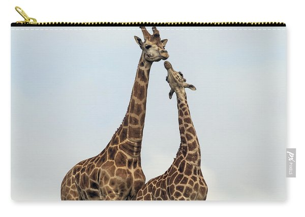Rothschild Giraffe Pair Courting Carry-all Pouch