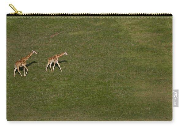 Rothschild Giraffe Pair Crossing Carry-all Pouch