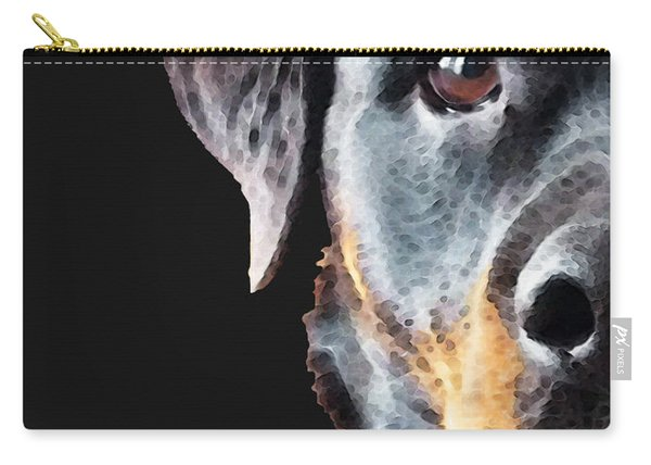 Rottie Love - Rottweiler Art By Sharon Cummings Carry-all Pouch