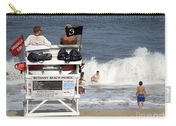 Rough Water At Bethany Beach In Delaware  Carry-all Pouch