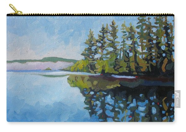 Round Lake Mirror Carry-all Pouch