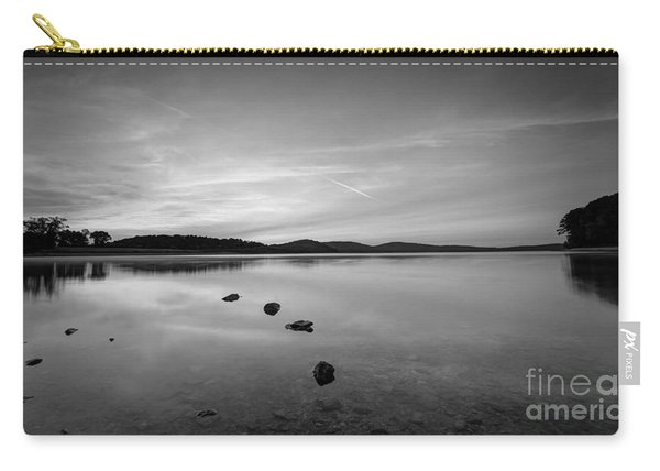 Round Valley At Dawn Bw Carry-all Pouch