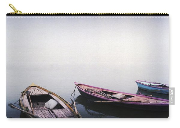 Row Boats In A River, Ganges River Carry-all Pouch