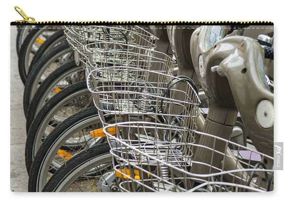 Row Of Bicycles Carry-all Pouch