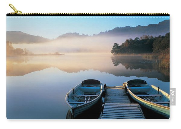 Rowboats At The Lakeside, English Lake Carry-all Pouch