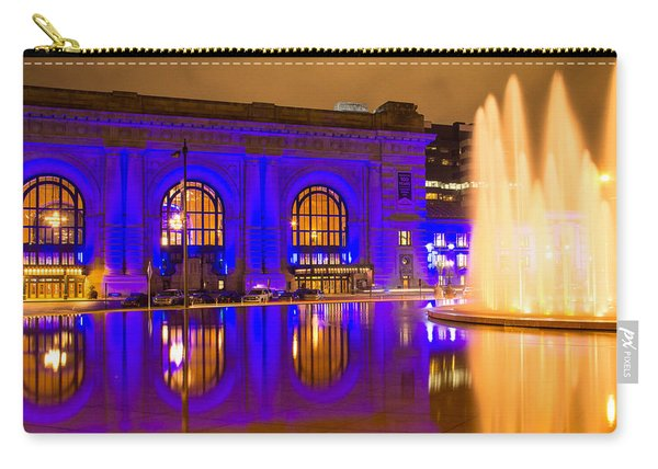 Royal Blue Reflections Union Station Carry-all Pouch
