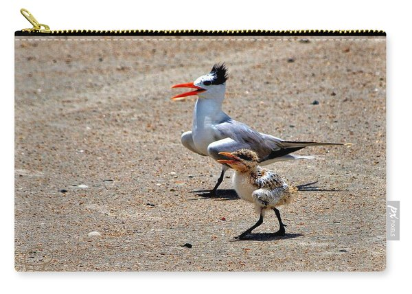 Royal Tern With Chick Carry-all Pouch