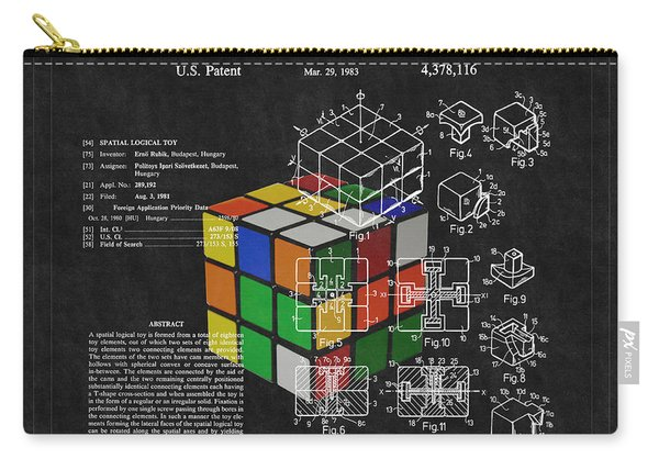 Rubik's Cube Patent 3 Carry-all Pouch