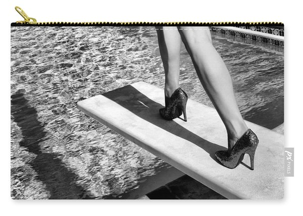 Ruby Heels Bw Palm Springs Carry-all Pouch