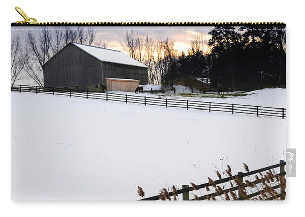 Rural Winter Landscape Carry-all Pouch