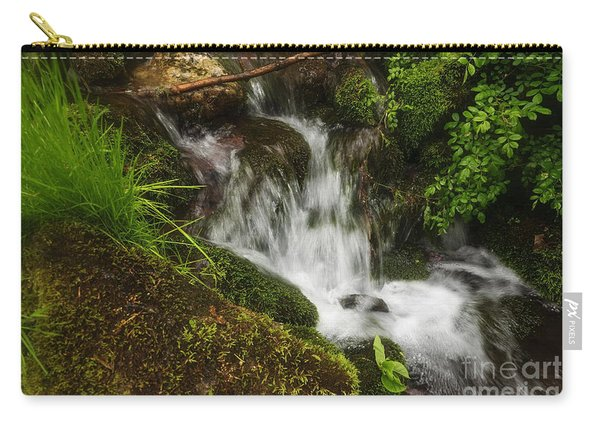 Rushing Mountain Stream And Moss Carry-all Pouch