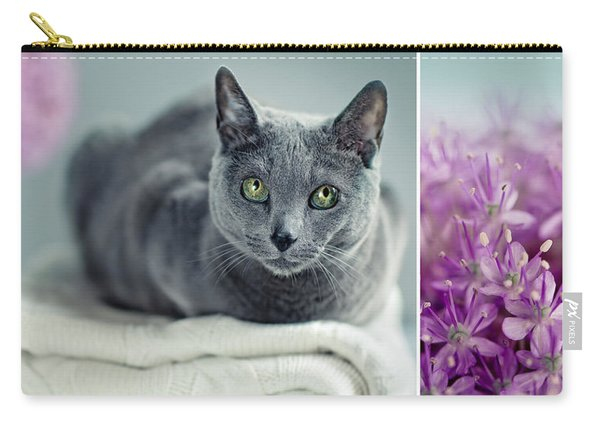 Russian Blue Collage Carry-all Pouch
