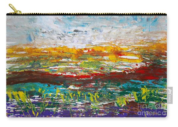 Rustic Landscape Abstract Carry-all Pouch