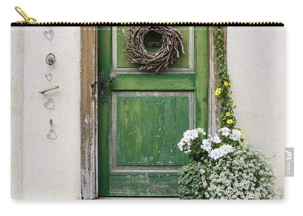 Rustic Wooden Village Door - Austria Carry-all Pouch