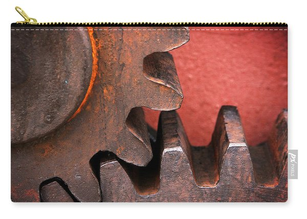 Rusty And Metallic Gear Wheel Carry-all Pouch