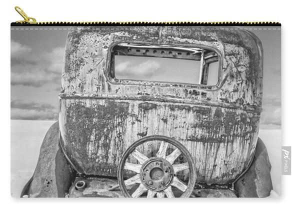 Rusty Old Car In The Snow Carry-all Pouch