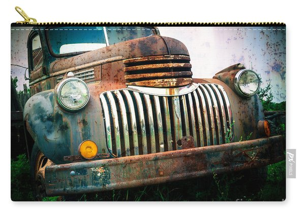 Rusty Old Chevy Pickup Carry-all Pouch