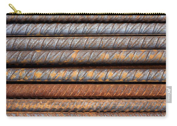 Rusty Rebar Rods Metallic Pattern Carry-all Pouch
