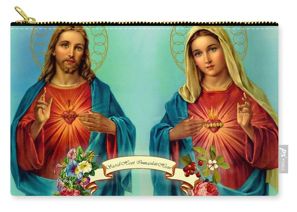 Sacred Heart Immaculate Heart  Carry-all Pouch
