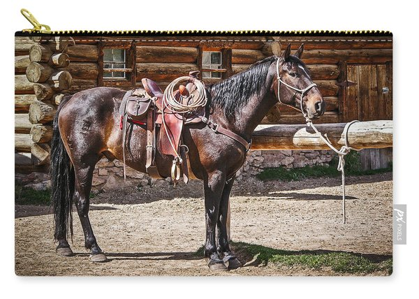 Saddled And Waiting Carry-all Pouch