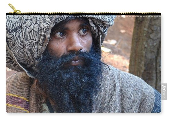 Sadhu At Amarkantak India Carry-all Pouch