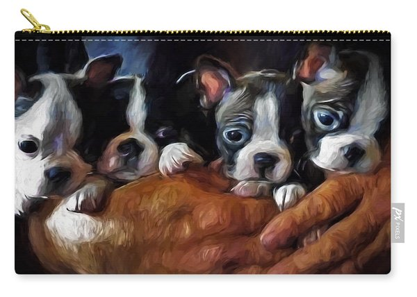 Safe In The Arms Of Love - Puppy Art Carry-all Pouch